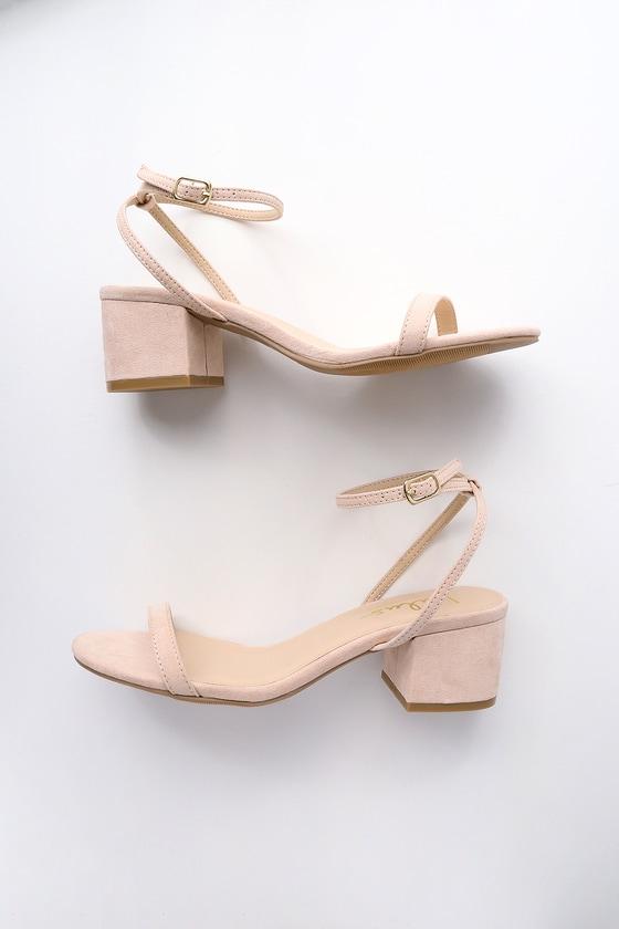 d9406d9326 Chic Nude Heels - 90s Shoes - Vegan Heels - Suede Heels