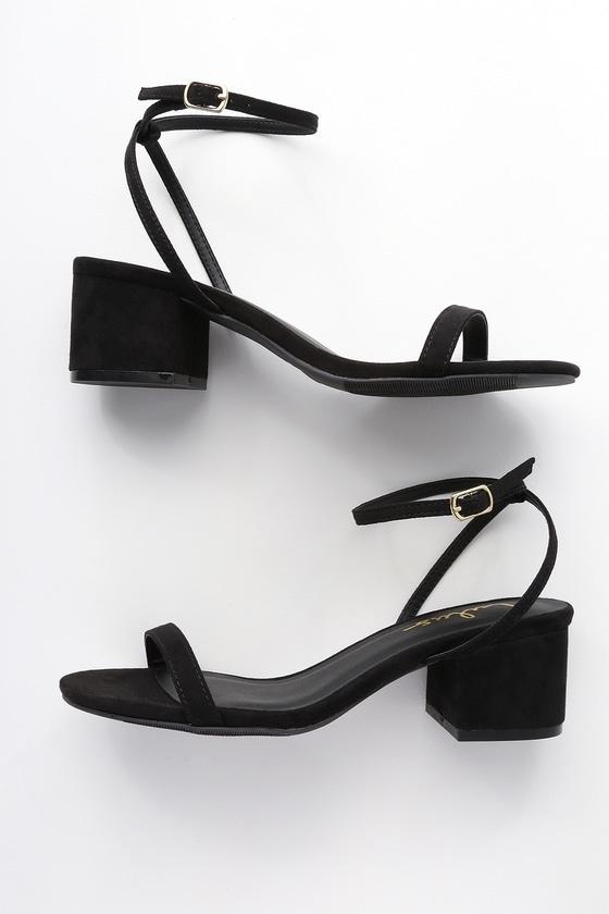 82ebf01ef3c Chic Black Heels - 90s Shoes - Vegan Heels - Suede Heels