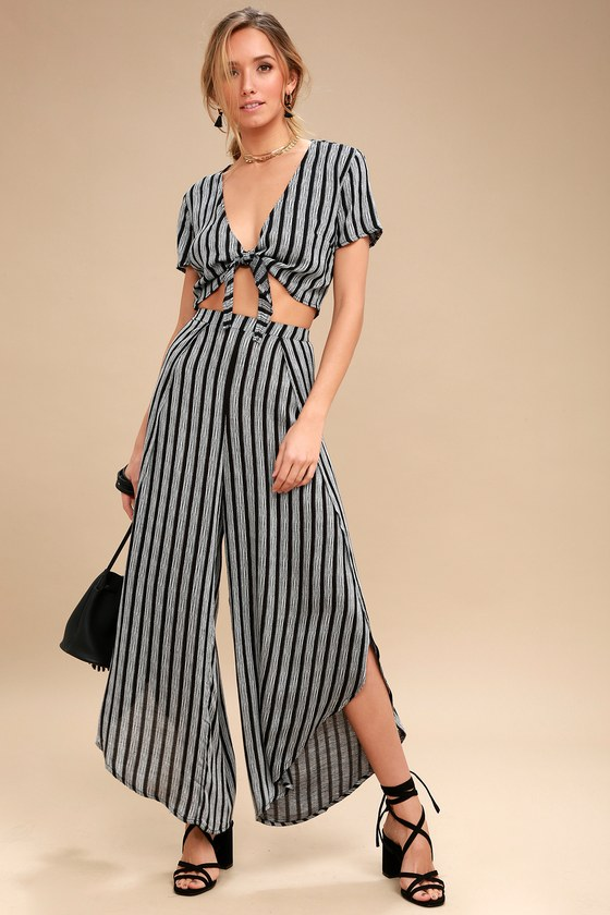 d5ced3f4e30 Boho Black and Grey Jumpsuit - Two-Piece Jumpsuit