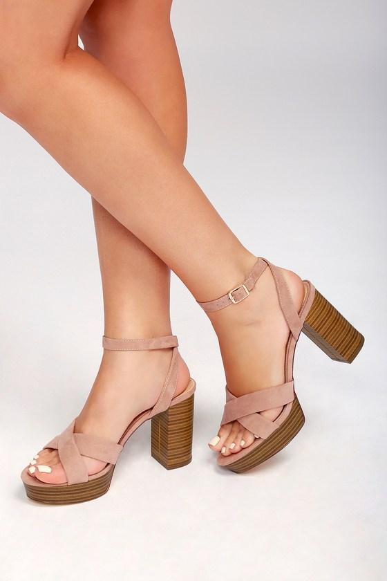Lulus Arya Suede High Heel Sandal Heels - Lulus Oyd8h