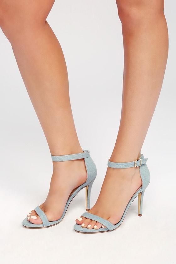 Lulus Meeko Royal Suede Ankle Strap Heels - Lulus Mfk8psKT
