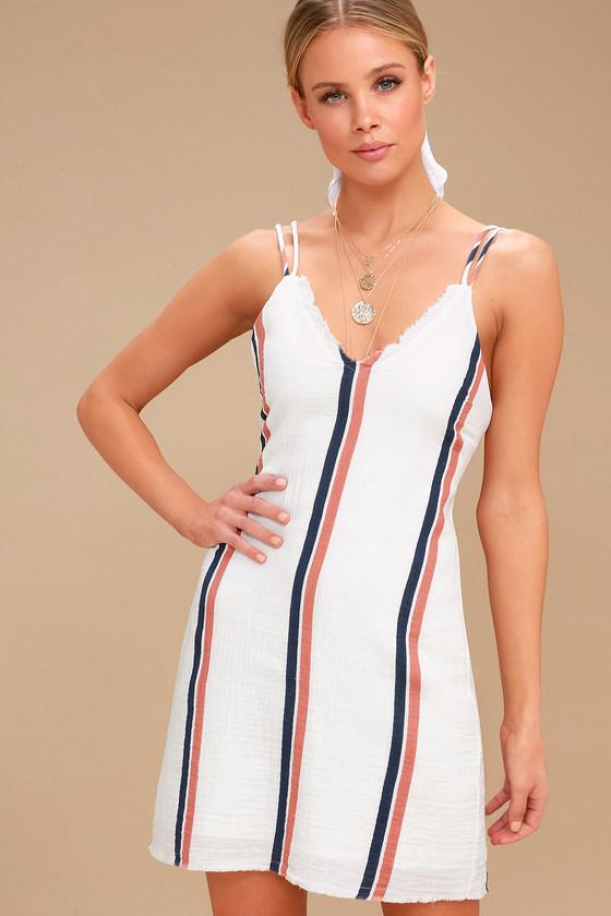 f6e21deb3a69d Tavik Abri - Cream Striped Dress - Mini Dress