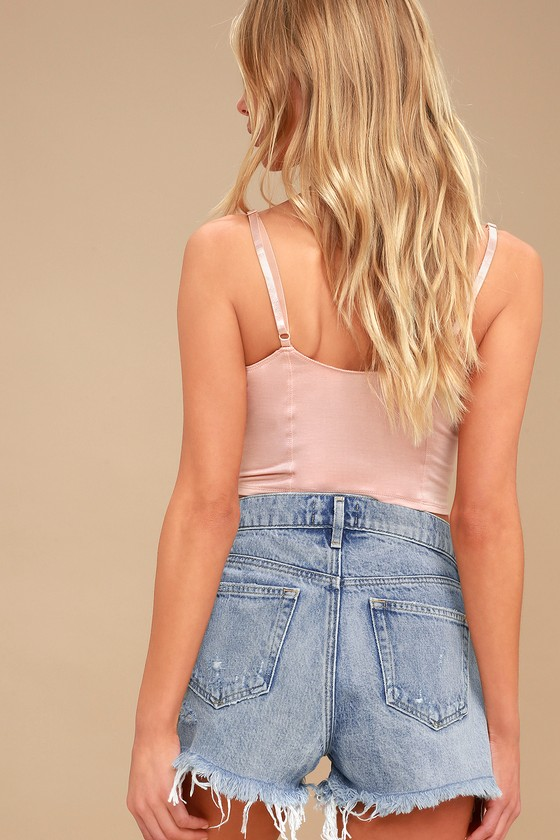 91359c798b Agolde Parker - Distressed Shorts - High-Waisted Shorts