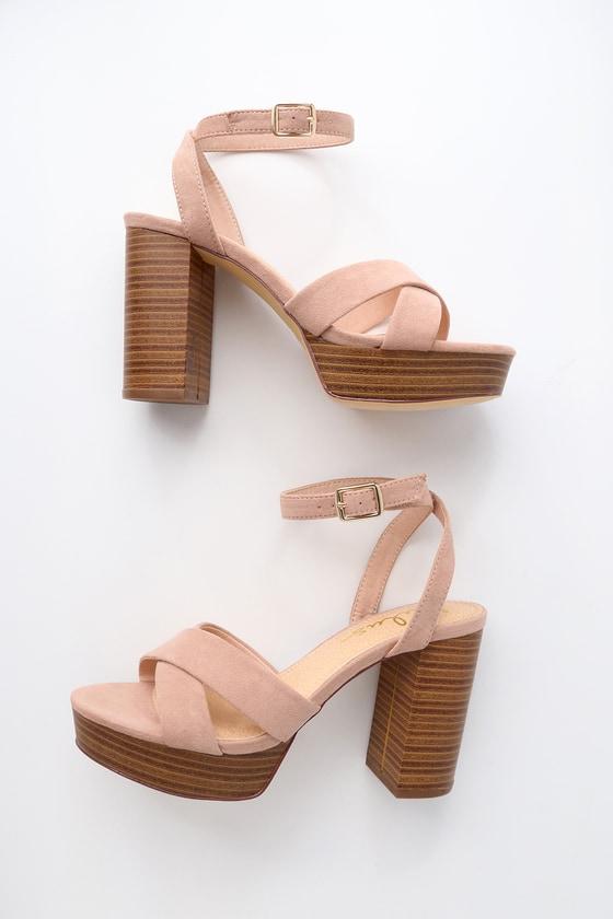 ff4f4e8c4a12 Cute Mauve Heels - Vegan Suede Heels - Platform Heels