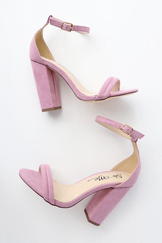 Lulus Bex Lilac Suede Ankle Strap Heels - Lulus