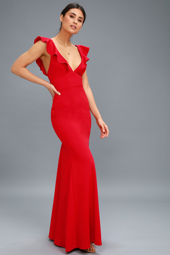 73317bd78caf Lovely Red Dress - Maxi Dress - Mermaid Maxi - Gown