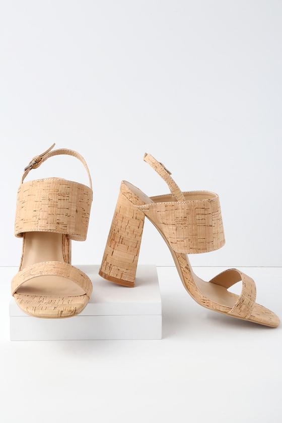 f159049b1de2d9 Lemon Drop by Privileged Emony - Cork Heels - Cork Sandals
