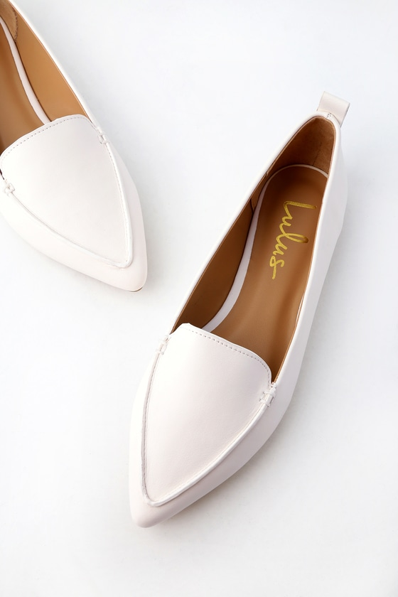 White womens loafers