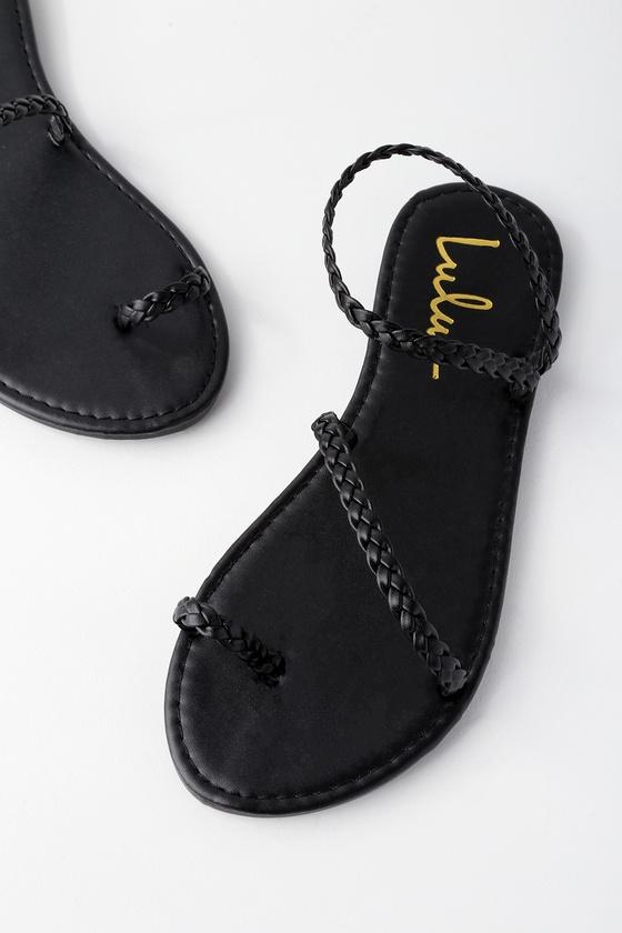 d91bcb84d Boho Sandals - Black Sandals - Flat Sandals - Toe Loop Sandals - $17.00