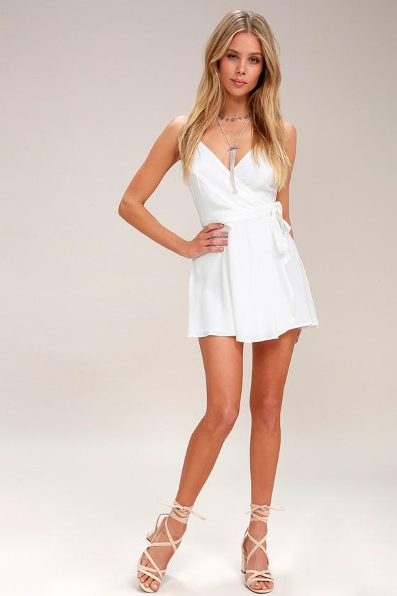 9e46a941866 Cute White Dress - White Skort Dress - White Romper