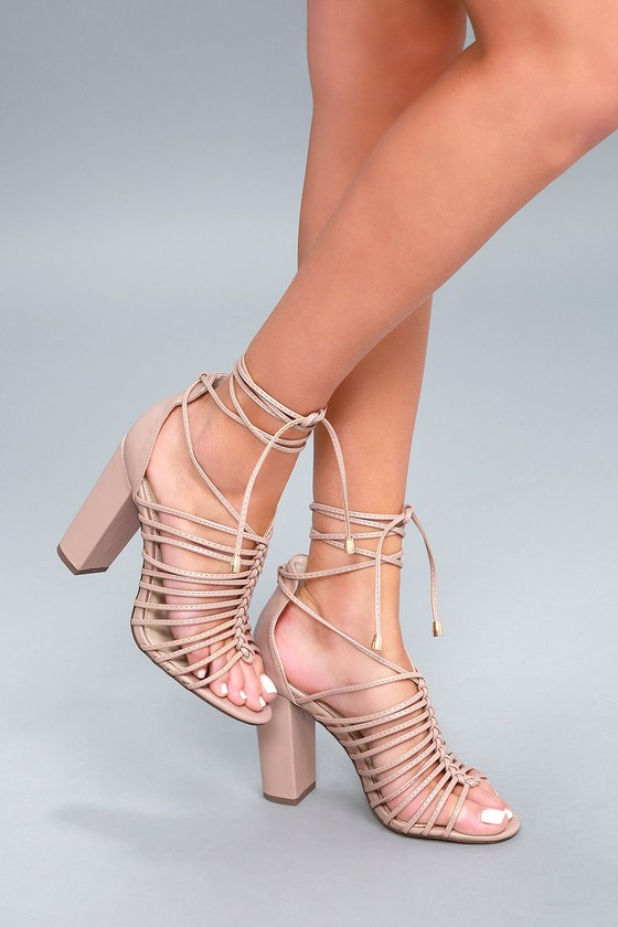 Lulus Kiana Caged Lace-Up Heels - Lulus mReGWpB