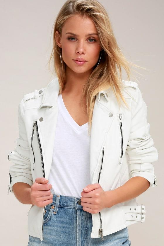 f01148da Chic White Moto Jacket - Vegan Leather Moto Jacket