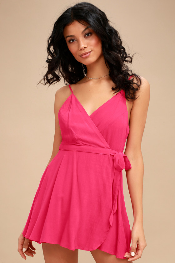 Camden Fuchsia Wrap Skort Dress