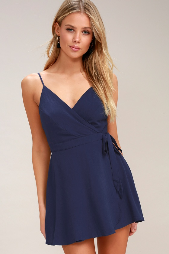 0adfeef9f34 Cute Navy Blue Dress - Navy Skort Dress - Navy Blue Romper