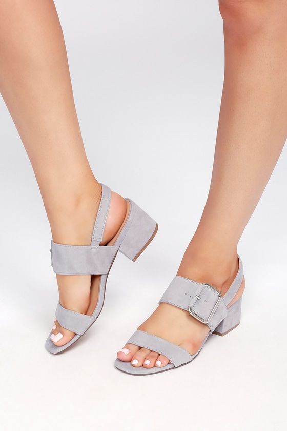9c24da0c0c8 Steven by Steve Madden Fond - Grey Sandals - Suede Sandals