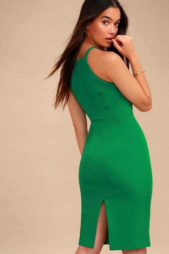 8ec37164ee Sexy Green Dress - Bodycon Dress - Midi Dress