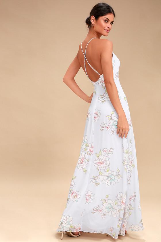 c7b341fd6aa Lovely Floral Print Dress Pale Pink Dress Maxi Dress | 2019 trends | xoosha