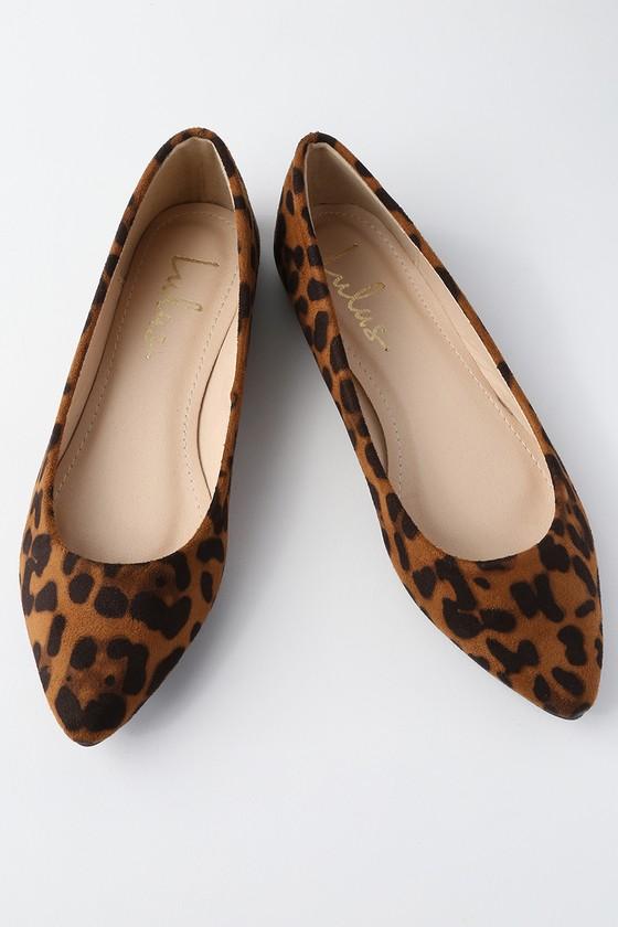 4fdcebbf62cd Chic Leopard Print Flats - Suede Flats - Vegan Flats