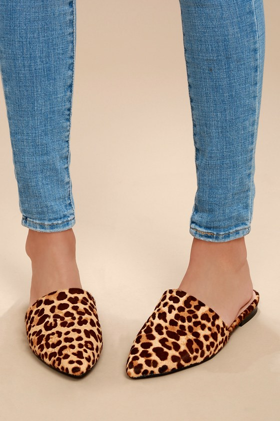 c0846aec4 Steve Madden Trace - Leopard Print Mules - Calf Hair Mule