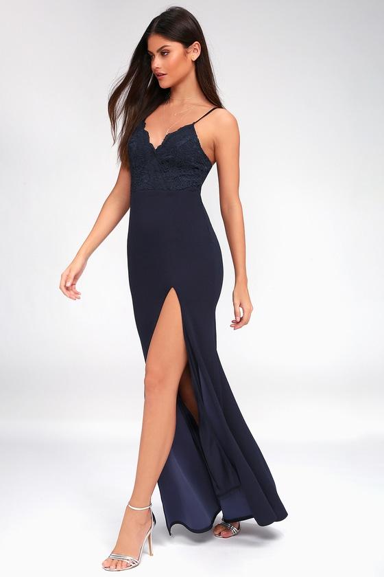 e8ff4ee6009 Lovely Blue Maxi Dress - Mermaid Maxi Dress - Formal Dress