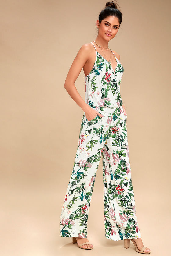4417263443a On the Road Florence Jumpsuit - White Print Jumpsuit