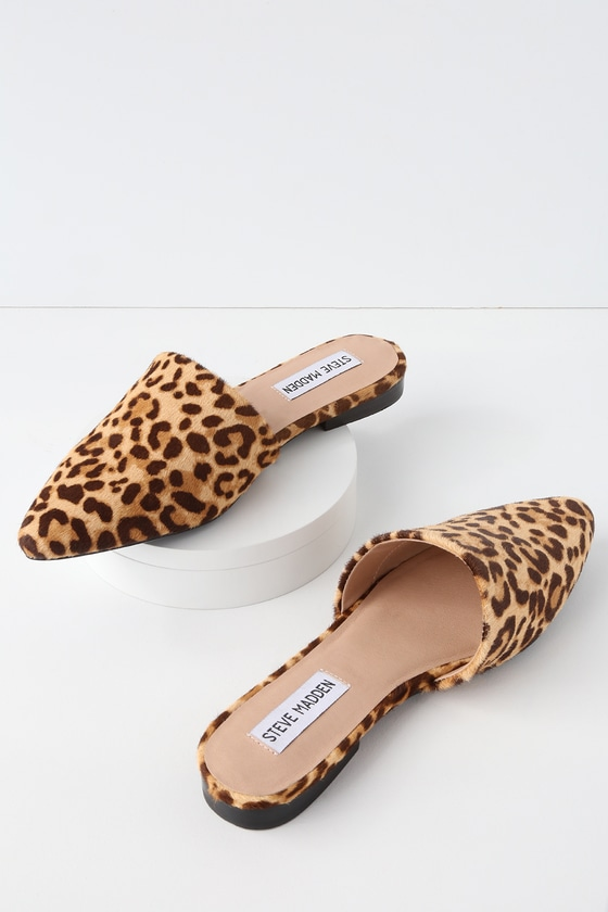 3452be7795e Trace Leopard Print Pony Fur Slides