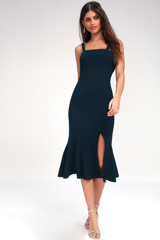 a34a9b1658c5 Finders Keepers Tribute - Navy Blue Midi Dress