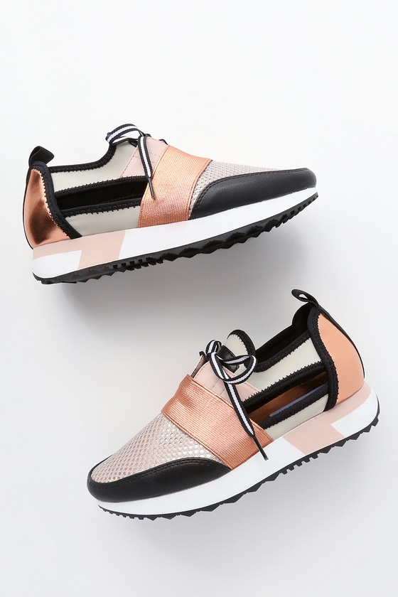e614e12cab6 Steve Madden Arctic - Rose Gold Sneakers - Cutout Sneakers