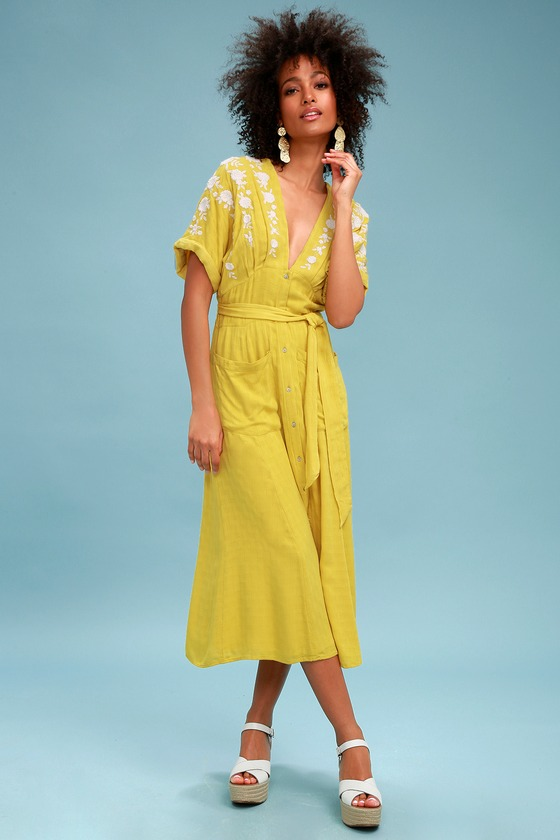 Love To Love You Dress in Yellow. - size M (also in L,S,XS) Free People