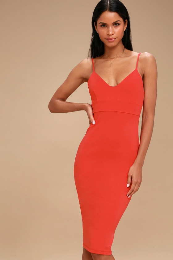 6c85a74b05de Chic Red Dress - Bodycon Dress - Sleeveless Dress