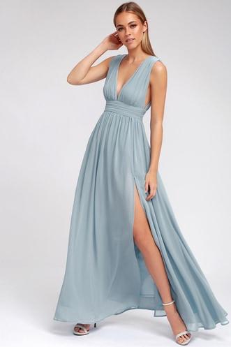 5ead3840482 Heavenly Hues Light Blue Maxi Dress