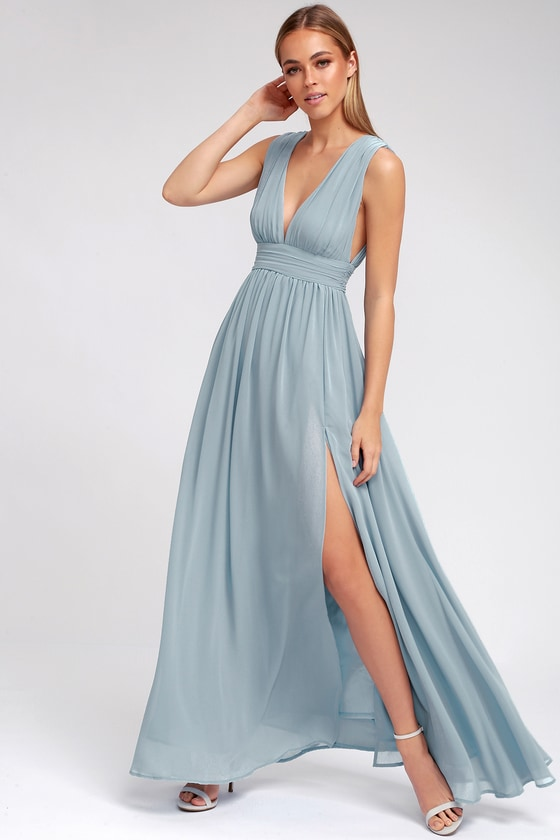 Light Blue Gown - Maxi Dress - Homecoming Dress - $84.00