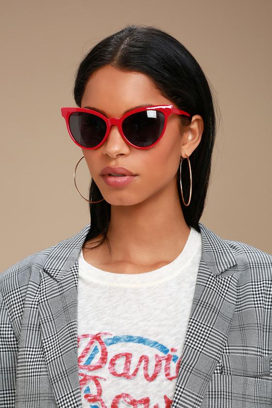 a39fb736ae Cute Red Cat-Eye Sunglasses - Red Sunnies - Cat-Eye Sunnies