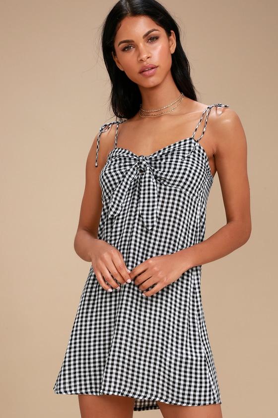 bb876a2885d Billabong Sweet Pie - Gingham Dress - Tie-Front Dress