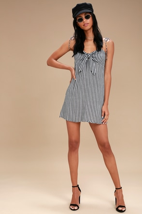 23e6371fea4 Billabong Sweet Pie - Gingham Dress - Tie-Front Dress