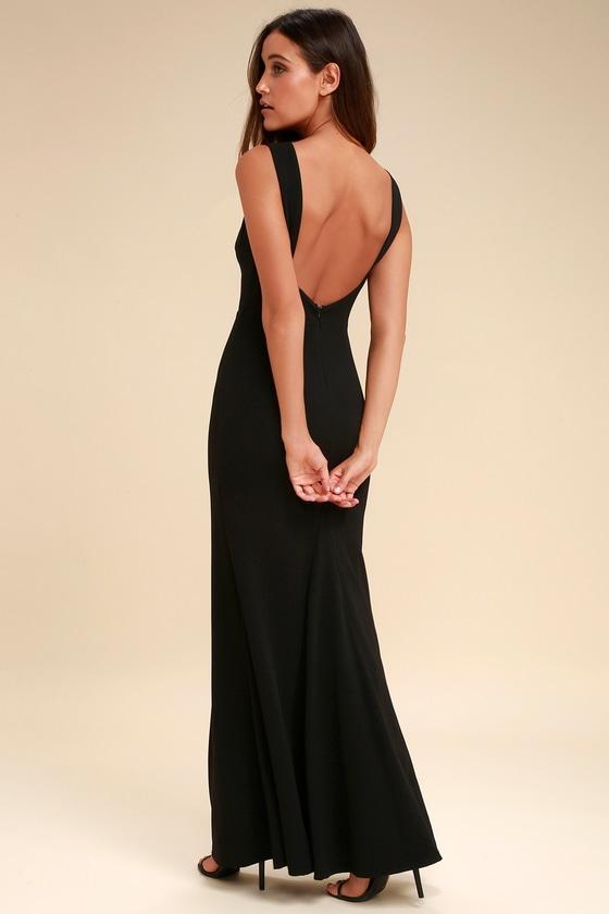 1a0899efa06 Chic Black Maxi Dress - Backless Dress - Mermaid Dress