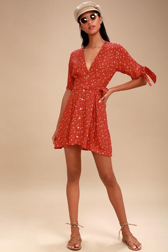 0a7cfe9e5dcd Faithfull the Brand Birgit - Coral Red Floral Print Dress
