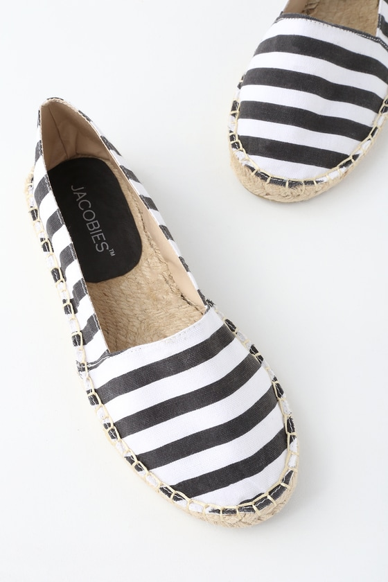 Lulus Mabry Striped Slip-On Espadrille Flats - Lulus qUscWOaC