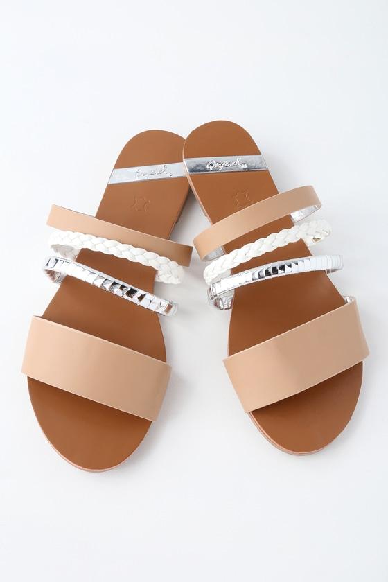 1cc815acb294 Cute Slide Sandals - Braided Sandals - Strappy Sandals