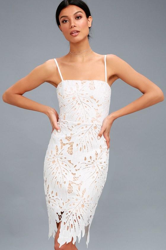 ff3eda257c3 Chic Lace Dress - Bodycon Dress - White Lace Dress