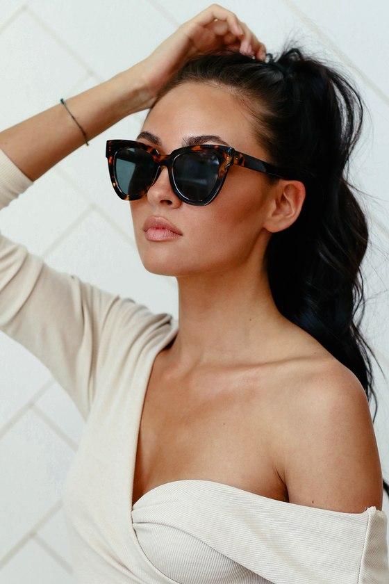 25dc6a33aa Cool Sunglasses - Oversized Sunglasses - Tortoise Sunglasses