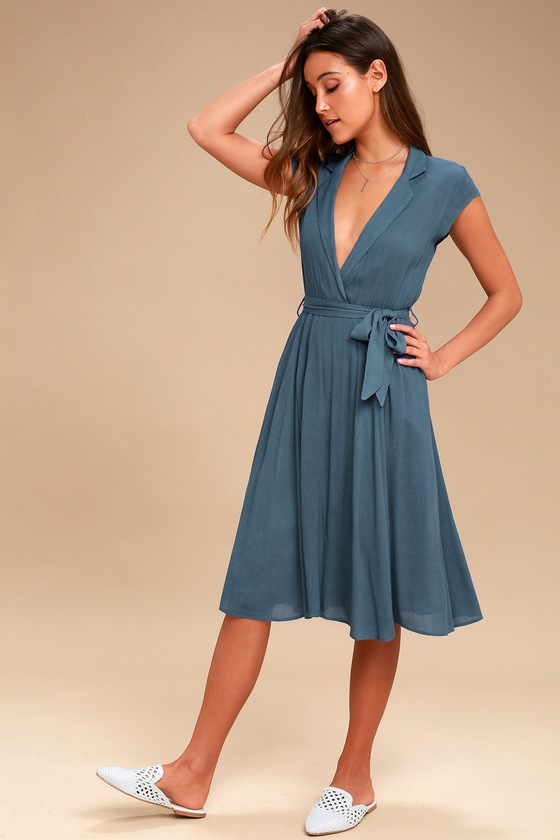 Surplice Cocktail Dress