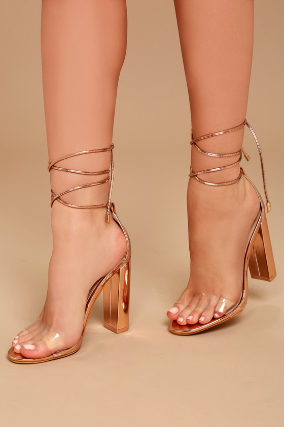heels maricela patent gold lucite chic products and lace rose up