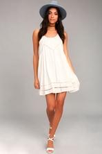 7dc8a59c443 Pretty Ivory Dress - Strappy Dress - Sundress - White Dress -  54.00
