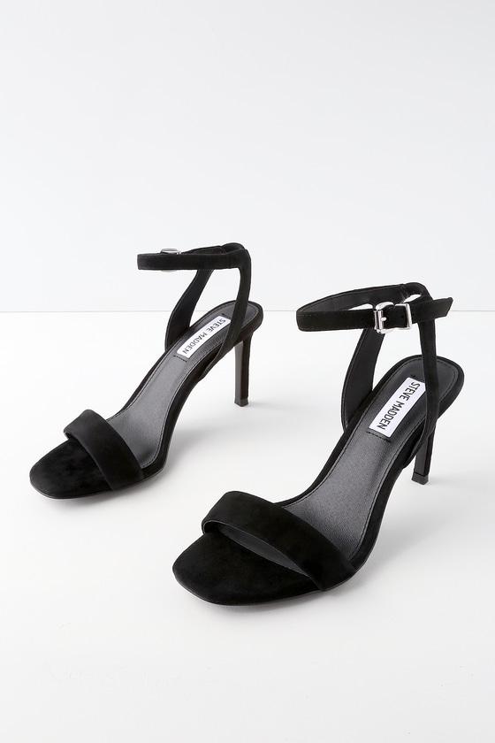 5b07db1f1fd Steve Madden Faith - Black Heels - Ankle Strap Heels