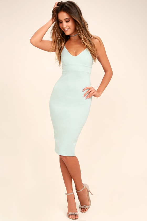 Chic Light Blue Dress - Bodycon Dress - Sleeveless Dress 0433b6f672e4