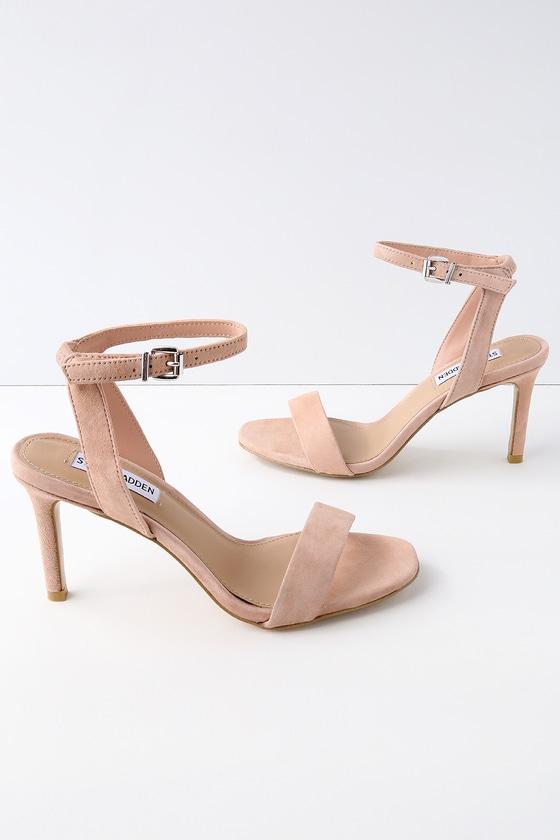 Lulus Faith Blush Suede Ankle Strap Heels - Lulus 5Tt4t6EJuE