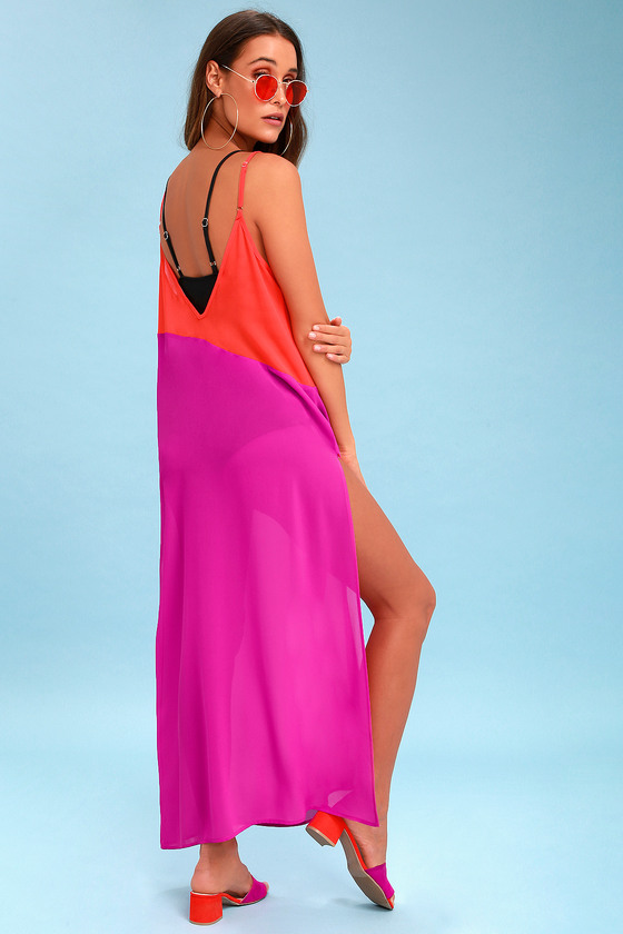 334edf88b1 Bright Swim Cover-Up - Colorblock Cover-Up - Resort Wear