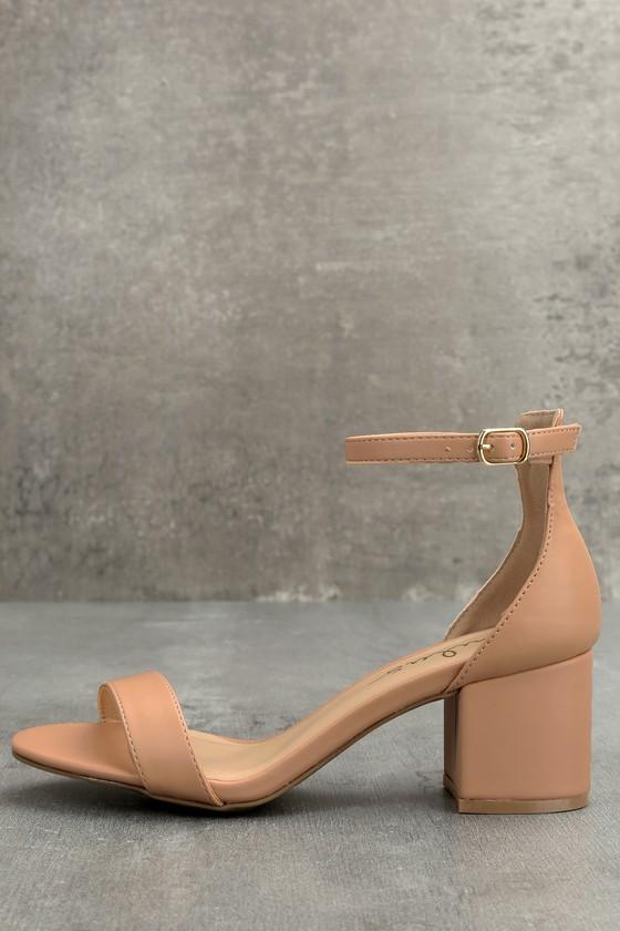 Lulus Harper Almond Stacked Ankle Strap Heels - Lulus F1xwRIJRy