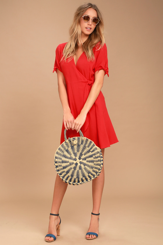 My Philosophy Red Wrap Dress